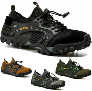 MENS MESH HIKING BOOTS LIGHTWEIGHT WALKING SHOES HIKING TRAIL TRAINERS SIZE