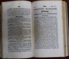 Neue medicinisch-chirurgische Zeitung 52 Ausgaben Jahr 1851 Medizin Pharmazie