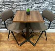 More details for new contract quality walnut square restaurant pub bar bistro cafe dining table