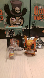"""Kidrobot The Odd Ones Dunny 3"""" Scott Tolleson - Roach Worldwide Free S/H"""