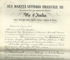 Nomina Capitano Bersaglieri Ordine Corona Italia Alessandro Asinari San Marzano