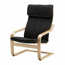 Ikea POANG Chair Armchair With Alme Black Cushion