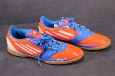 SB403 Adidas F50 IN Sportschuhe Gr. 42,5 orange blau Fußballschuhe