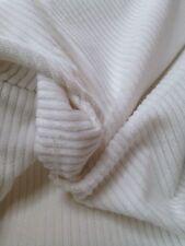 Sale 1/2  Metre  Exclusive Designer White Velvet Cotton Cord Curtain Fabric