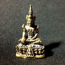 Emerald Buddha Miniature Figurine Thai amulet Charm Lucky Protect Rich DBD