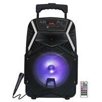 "Fully Amplified Bluetooth 1600 Watts Peak Power 8"" Speaker - ANGEL8 Black"