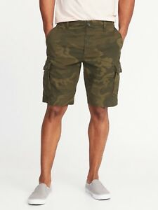OLD NAVY Lived-In Built-In Flex Ripstop Cargo Shorts Men 10-inch inseam sz 34