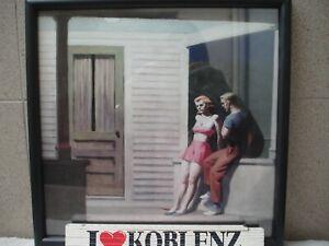 Edward Hopper SUMMER EVENING 1947 Kunstdruck gerahmt Holzrahmen & Glas -p389