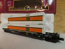 MTH TRAIN BNSF BURLINGTON NORTHERN SANTA FE RAILROAD HUSKY STACK CAR 20-95008