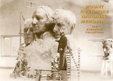 South Dakota, Mount Rushmore model heads pre-carving unused postcard