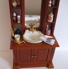 DOLLHOUSE Bathroom Sink Cabinet w Mirror 17182 Reutter Porcelain Miniature 1:12