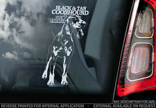 BLACK & TAN COONHOUND Car Sticker, Window Decal Bumper Sign Dog Pet Gift - V02