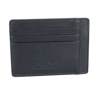 Men's Wallet Port Card Credit ALV BY ALVIERO MARTINI Blue Leather BN203-S