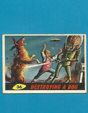 1962 MARS ATTACKS Nice Condition Alien Space War Card #36 Destroying A Dog