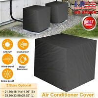 Square Outdoor Air Conditioner Cover Water-resistant Furniture Protector Anti UV