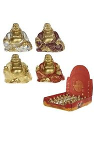 2 x Mini Smiling Buddha Figurine/ Statue / Lucky Buddha / Spiritual / 4x4x3 cm