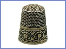Antique Sterling Silver Thimble with a 10K Gold *C.1890s
