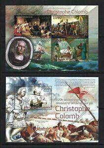 Burundi 2012 Sc#1244,#1269  Discovery of America-Columbus  MNH MS/SS Set  $20.80