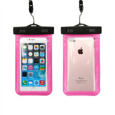 Waterproof Touch Screen Case Underwater 100 Dry Bag Cover Universal for iPhone Pink