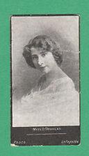 A. BAKER & CO. LTD. - VERY RARE ACTRESSES ' HAGG ' CARD - MISS  DOUGLAS  - 1900