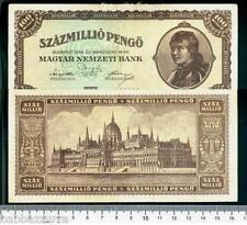 UNGHERIA HUNGARY 100 MILIONI DI PENGO 1946 RARRR  lotto 1