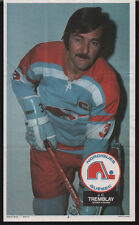 1973-74 OPC W.H.A. QUEBEC NORDIQUES J.C. TREMBLAY POSTER CARD