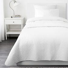 IKEA ALINA Copriletto + 1 fodera cuscino bianco 180x280 cm letto singolo soffice