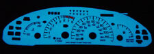 USA Free Ship 1995-1999 Pontiac Sunfire Auto Blue/Green Glow Gauges Overlay GT