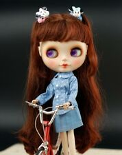 Blythe Outfit Clothing star print light blue shirt