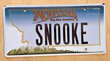 "MONTANA VANITY AUTO LICENSE PLATE "" SNOOKE ""  SNOOKIE JERSEY SHORE NJ SNOOKERS"