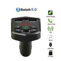Wireless Handsfree Bluetooth Car Kit FM Transmitter Cha USB MP3 A3N6 Dual P R8X5