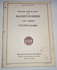 Massey Harris 300 Series Cultivator Parts Catalog Manual Book Original! MH MF
