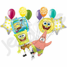 12 pc Spongebob Square Pants Balloon Bouquet Decor Happy Birthday Nickelodeon