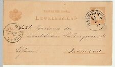 Ungarn 1884, Ganzsache, Radosocz an die israelitsche Kultusgemeinde Marienbad