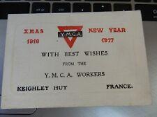More details for ymca keighley hut  1916/17 christmas card  original ww1