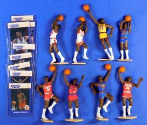 1988 STARTING LINEUP BASKETBALL LOT 8 FIGURES WITH CARDS MICHAEL JORDAN KENNER