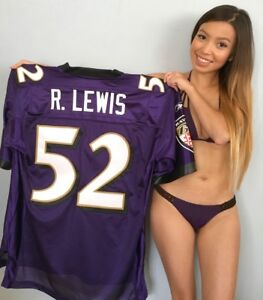 Ray Lewis Baltimore Ravens authentic Reebok triple stitched purple 52 jersey NEW