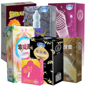 Latex Condoms For Men 3D/5D Spike Dotted Ribbed G-Spot Contraceptive Condoms