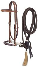 Western Browband Headstall - Bosal - Mecate Set - Medium Oil