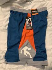 Youth Boys And1 Basketball Shorts ( Size Large 10/12) Blue Orange