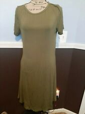 Women's Lady Summer Short Sleeve Casual Loose Sundress T-shirt Dress SZ L