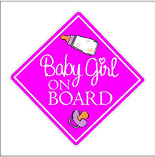 Baby Girl On Board Decal Baby Girl Car Sticker