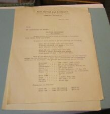 1938 REO Motor Car Company Dealer Letter New Bus Chassis Model Announcement 2pg
