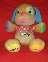 Fisher Price Talking Tummy ABC Smart Stages Interactive Puppy Dog Bear Teddy Toy