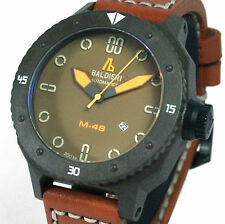 BALDIERI, MEN'S, AUTOMATIC, 48MM, BROWN CARBON MAGNUM M-48,  20ATM,