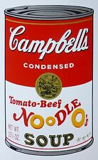 ANDY WARHOL CAMPBELLS' TOMATO BEEF NOODLE O's SOUP II SUNDAY B.MORNING 55/1500