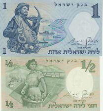 Israel( 2),1/2,1 Lirot Banknotes,1958,Choice Uncirculated Condition,P#29-30-A