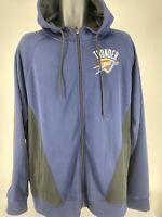 NBA OKC Thunder Hoodie Mens Full Zip Oklahoma City Hoodie Jacket SIZE XL 2