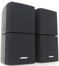 2 Bose Double Cube Speakers Satellite Surround Sound Lifestyle Acoustimass Black