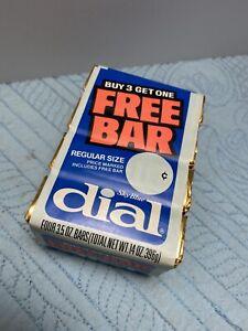 Vintage Dial Sky Blue 4 Pack 3.5 OZ Regular Size Bar Soap Gold Foil Prop NOS New